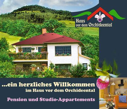 Pension Haus vor dem Orchideental